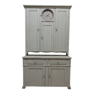 Swedish Country Clock Cabinet For Sale