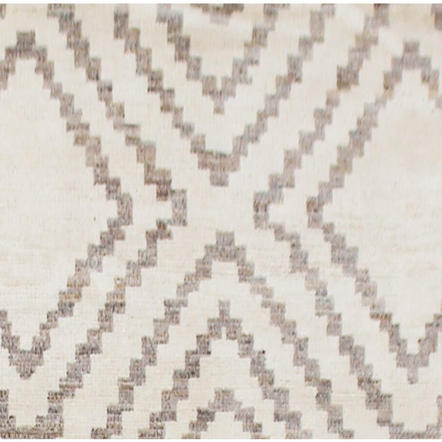 "Modern Aara Rugs Inc. Hand Knotted Navajo Style Rug - 9'9"" X 13'3"" For Sale - Image 3 of 4"