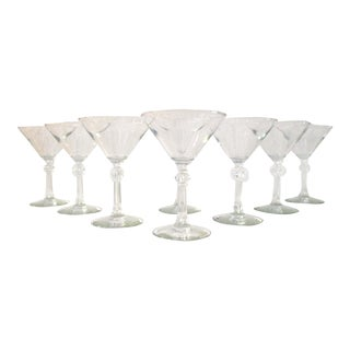 1950s Mid-Century Stardust Martini Glasses - Set of 8 For Sale
