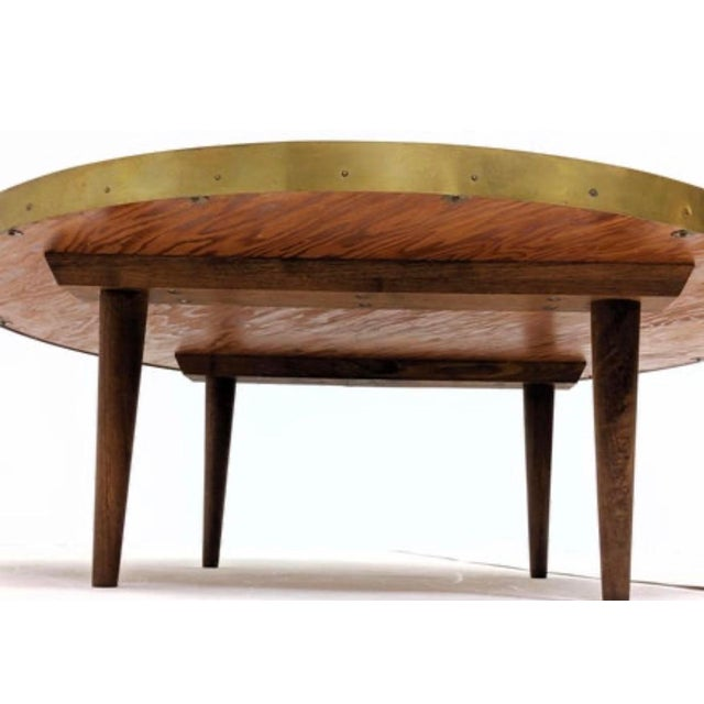 Metal Mid Century Modern Mosaic Coffee Table For Sale - Image 7 of 9