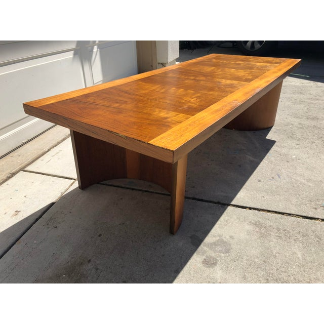 Brown Kroehler Mid-Century Modern Bentwood Base Coffee Table For Sale - Image 8 of 11