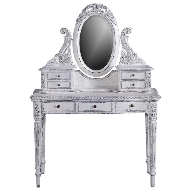 BG-519 Overall measurements (inches) 57H x 39W x 16D . Overall Condition is New. Material(s): Mirror,Solid Wood. Dates to...