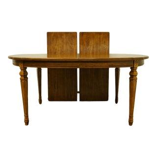 "Vintage Italian Provincial Bernhardt Furniture 100"" Dining Table For Sale"