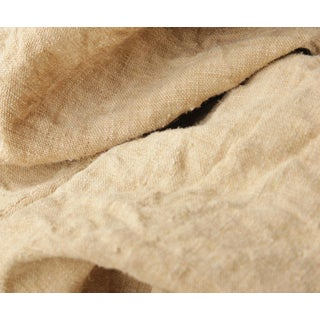 "Antique Rustic Heavy Hemp Fabric - 48x81"" For Sale"