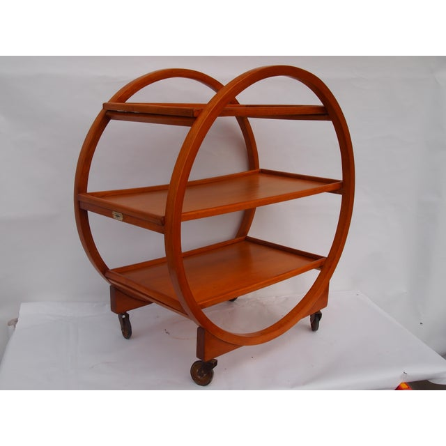 Stunning English Art Deco Bar Cart. Manufactured by Lamertons House Furnishings (Ealing W5). They were known for their...