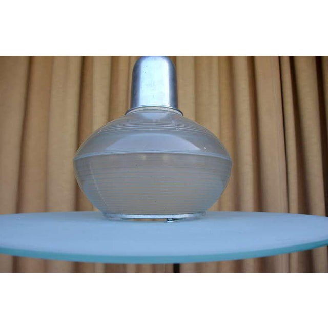 Pair of French Art Deco Hanging Lights For Sale In Los Angeles - Image 6 of 10