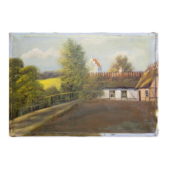 Swedish Landscape Oil on Canvas, C. 1900 For Sale In Chicago - Image 6 of 10