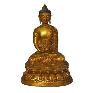 Vintage Bronze Sitting Buddha Statue