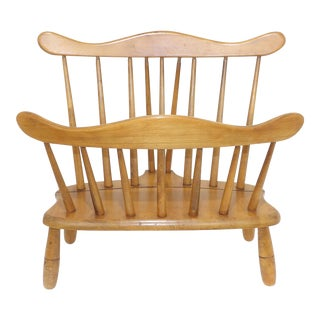 1960s Mid-Century Modern R. Veal & Son Chair Company Maple Magazine Rack