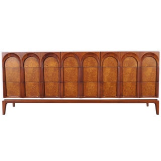 Mid Century Modern Walnut Dresser by Thomasville For Sale
