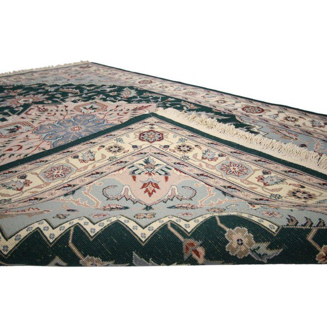 Late 20th Century Late 20th Century Persian Style Tabriz Design Rug - 5′9″ × 8′9″ For Sale - Image 5 of 6