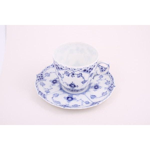 Full Lace Mini Cup and Saucer. These are second hand Royal Copenhagen pieces handcrafted in porcelain and made in Denmark....