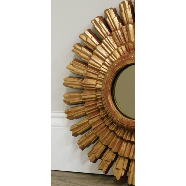 Small Gold Gilt Sunburst Mirror For Sale - Image 11 of 13
