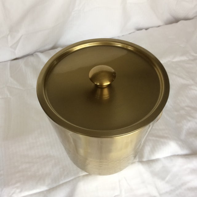 Gold Anodized Double Insulated Ice Bucket and Ice Scoop For Sale - Image 11 of 13