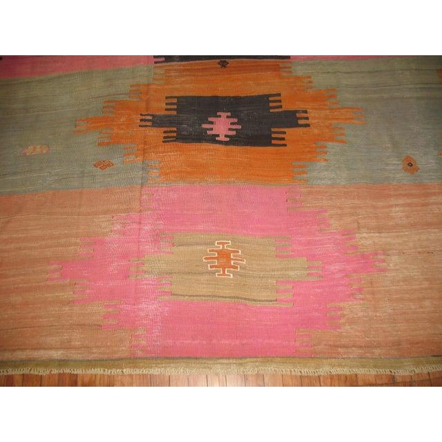 Orange Vintage Kilim Rug - 7' X 10'2'' For Sale - Image 8 of 8