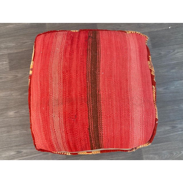 1980s Vintage Moroccan Pouf Cover For Sale - Image 11 of 13