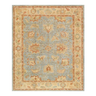 "Pasargad Oushak Wool Area Rug- 12' 2"" X 14' 4"" For Sale"