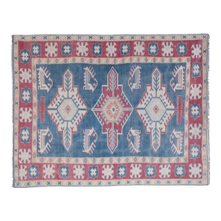 "Vintage Oriental Anatolian Large Foyer Size Rug 5'2"" X 6'8"" For Sale"