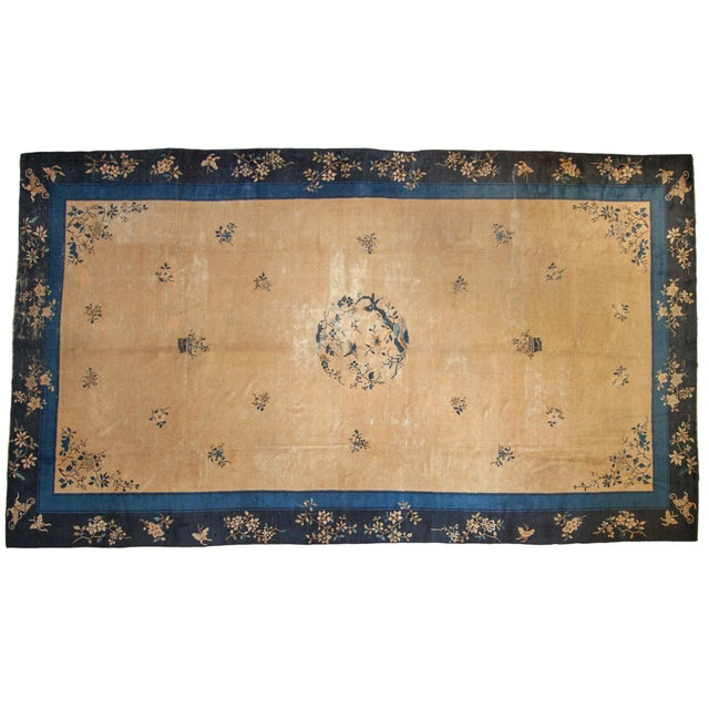 "Vintage Peking Carpet - 9'11"" X 17'4"" For Sale - Image 13 of 13"