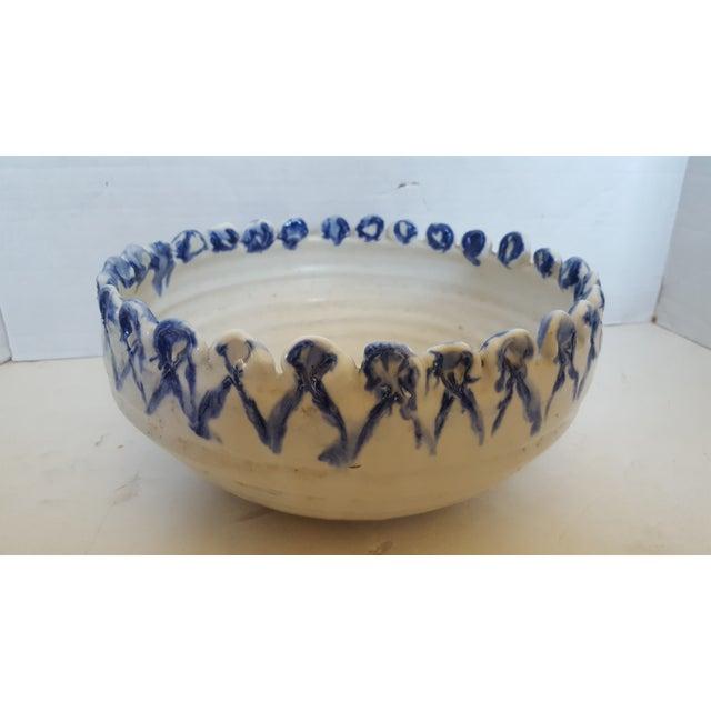 Studio Pottery Blue/White Bowl - Image 2 of 3