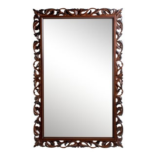 Cherry Traditional Beveled Accent Mirror For Sale