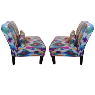 Multi-Colored Accent Chairs - A Pair For Sale