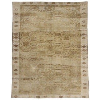 20th Century Turkish Oushak Rug With Warm, Neutral Colors - 8′1″ × 10′1″ For Sale