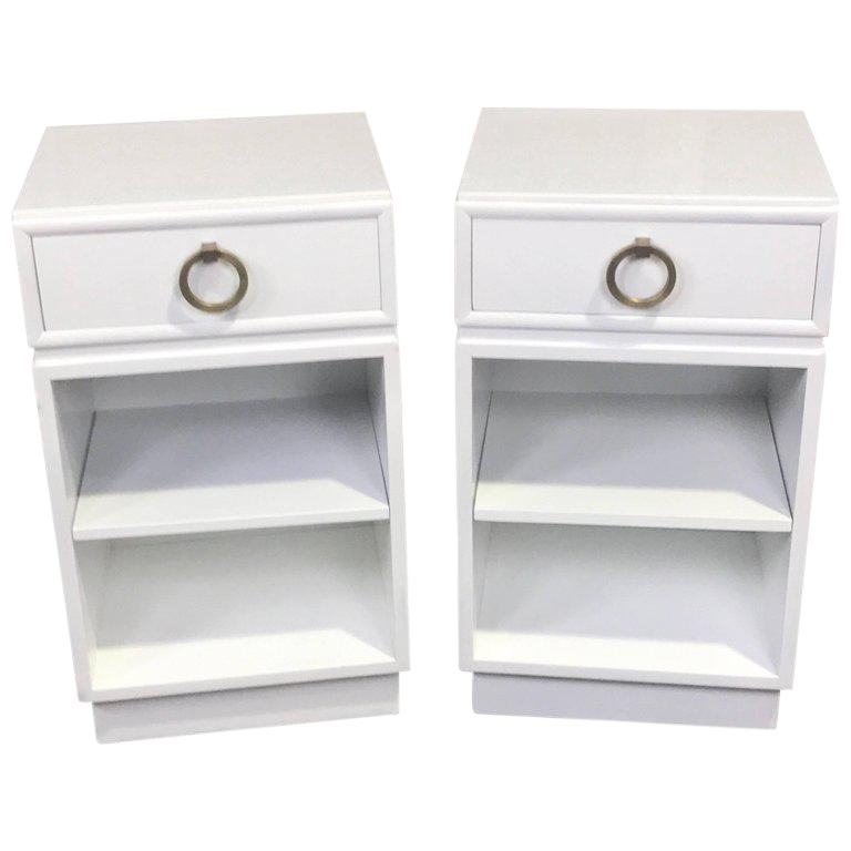 stunning white lacquer nightstand furniture. Robsjohn-Gibbings For Widdicomb, White Lacquered Nightstands - A Pair For  Sale Stunning White Lacquer Nightstand Furniture