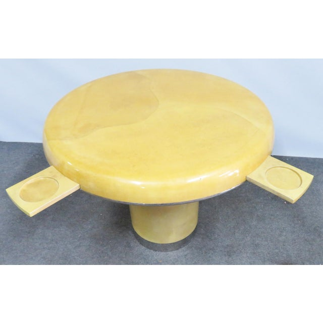 Lorin Marsh Lacquered Goatskin Center Table For Sale In Philadelphia - Image 6 of 11