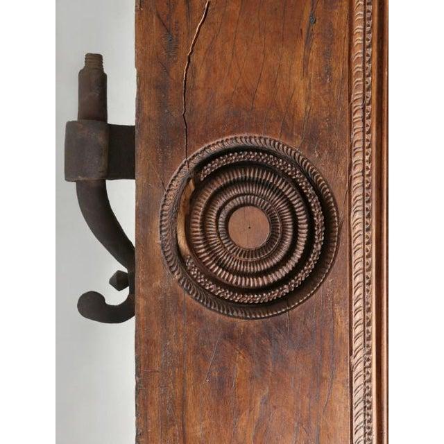 Rustic Antique Teak Carved Wood Door Frame For Sale - Image 3 of 12