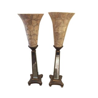 Hollywood Regency Torchere Lamps - a Pair For Sale