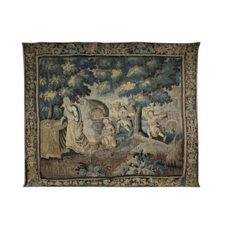 Flemish Verdure Garden Tapestry For Sale