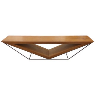 21st Century Brazilian Imbuia Wood Sculptural Bench by Leonardo Bueno For Sale