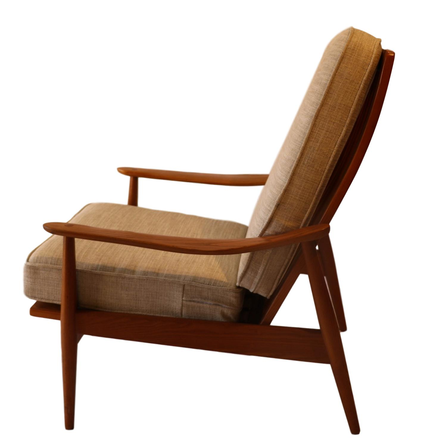 Danish Modern Mid-Century Teak High Back Lounge Chair For Sale - Image 3 of  sc 1 st  Chairish & Mid-Century Teak High Back Lounge Chair | Chairish