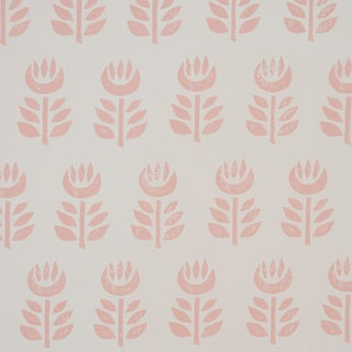 Schumacher Rosenborg Wallpaper in Pink
