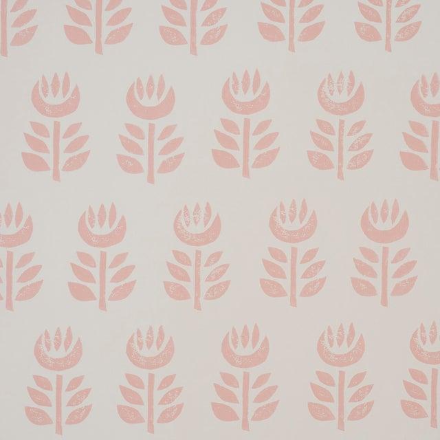 Schumacher Rosenborg Wallpaper in Pink For Sale
