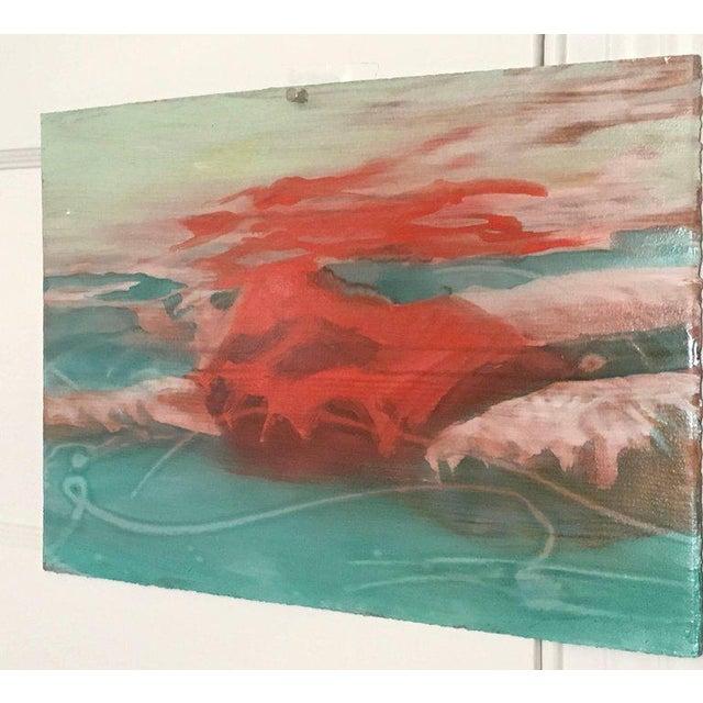 """Carol Bennett Carol Bennett """"Suspense Study"""" Figurative Swimmer Artwork on Paper, 2017 For Sale - Image 4 of 8"""