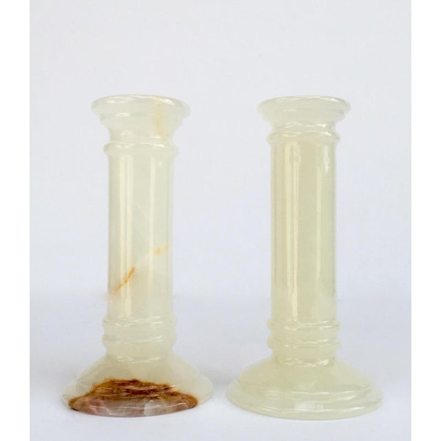 Onyx Doric Columned Candle Holders -A Pair For Sale - Image 12 of 12