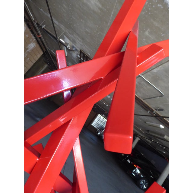 """Metal """"Tropic of Capricorn"""" a Contemporary Abstract Sculpture by American Artist Joey Vaiasuso For Sale - Image 7 of 13"""