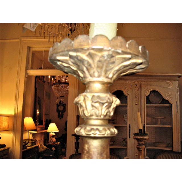 19th Century Gilt Wood Candlestick For Sale In New Orleans - Image 6 of 10