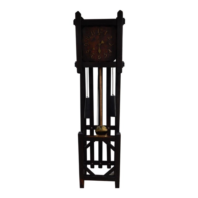Antique Mission Arts & Crafts Tall Clock For Sale