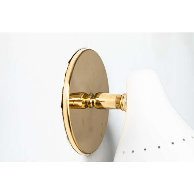 1950s Gino Sarfatti White Articulating Sconce for Arteluce For Sale - Image 12 of 13
