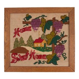 Vintage Home Sweet Home Punchwork For Sale