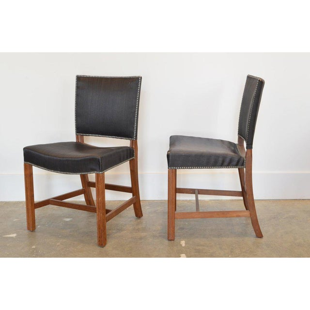 Mid-Century Modern Set of Four Kaare Klint Red Chairs, 1954 For Sale - Image 3 of 5