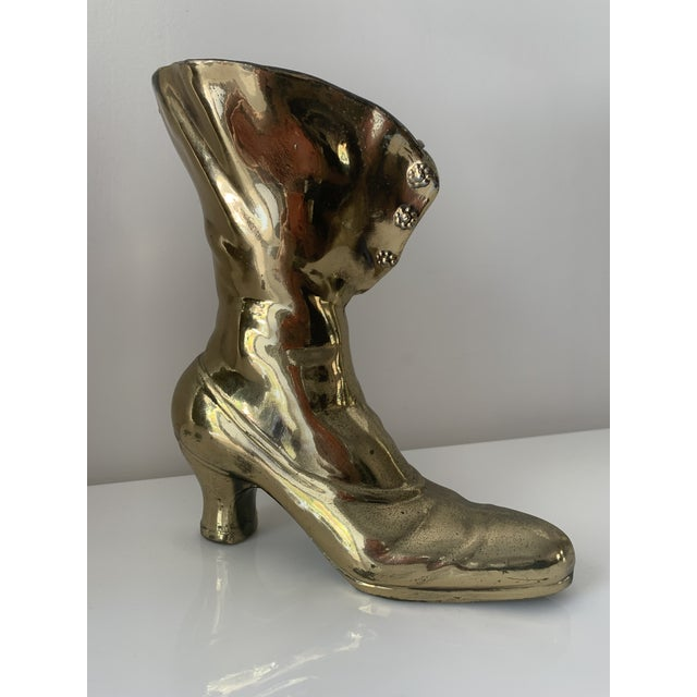 Victorian Victorian Steampunk Boot Vase For Sale - Image 3 of 10
