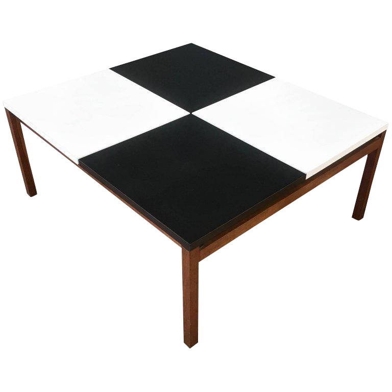 Early Lewis Butler For Knoll Associates Checkerboard Coffee Table For Sale