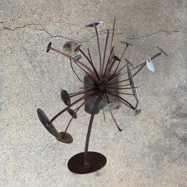 Frank Cota Brutalist Metal Table Sculpture For Sale - Image 10 of 12