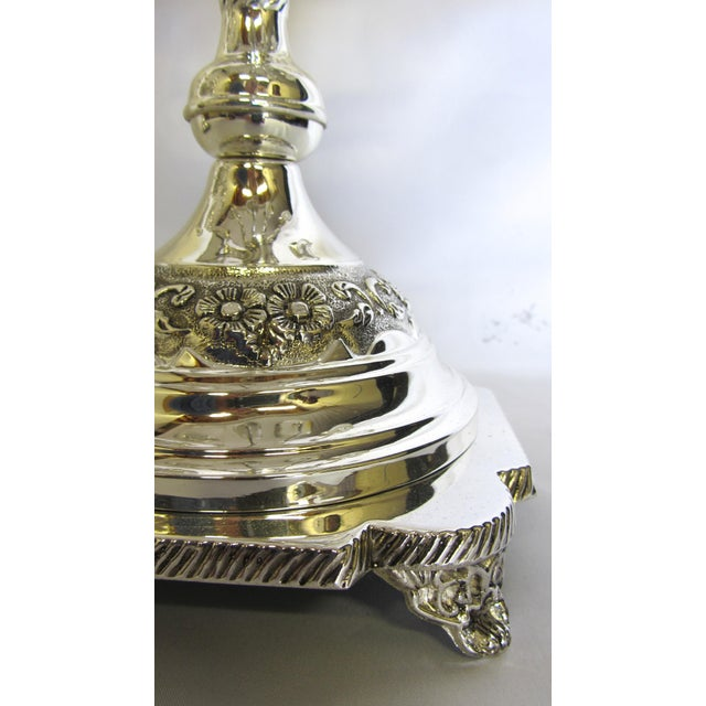 Godinger Silver Plate 9 Arm Candelabras - A Pair For Sale - Image 5 of 7