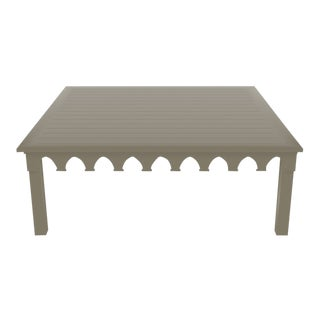 Oomph Ocean Drive 42 Outdoor Coffee Table, Taupe For Sale