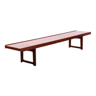 Vintage Mid Century Torbjørn Afdal Norwegian Teak Long Bench For Sale